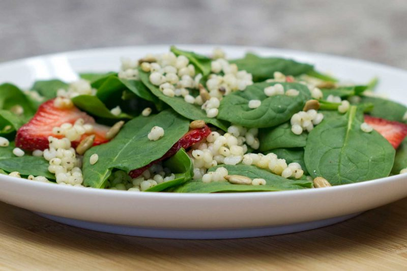 Gluten Free Sorghum Strawberry Salad