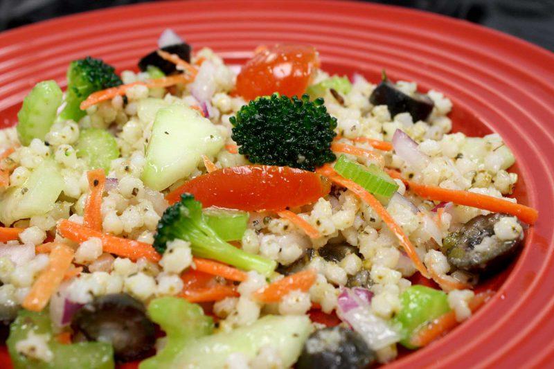 Gluten Free Pearled Sorghum Grain Italian Salad