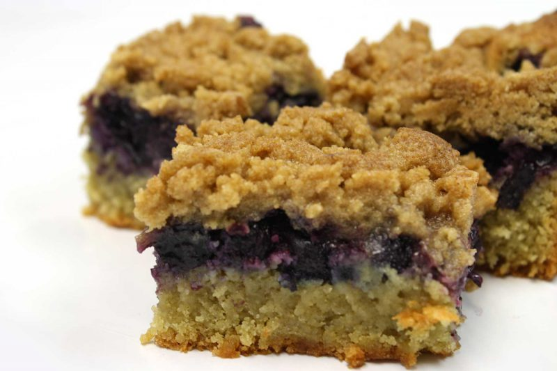 Gluten Free Blueberry Streusel
