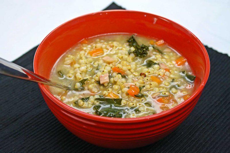 Gluten Free Ham Kale Sorghum Soup