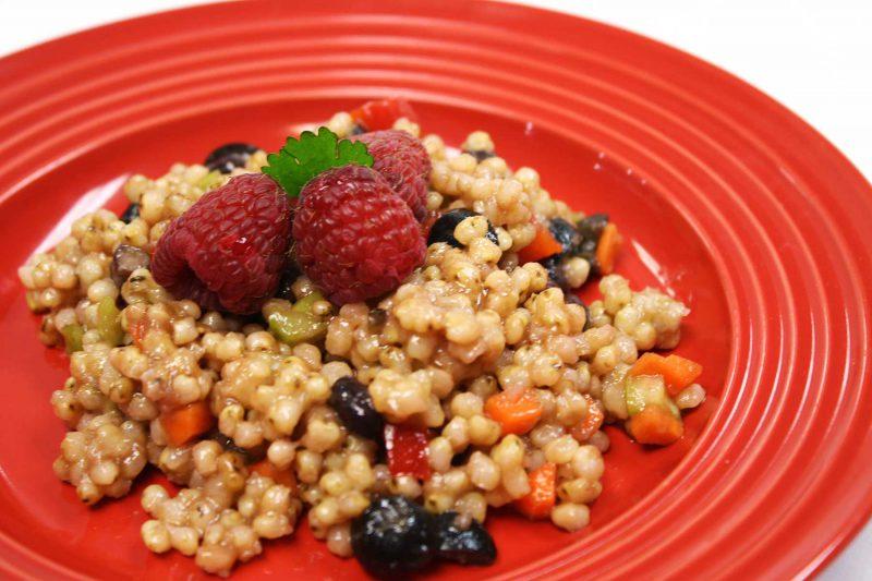 Gluten Free Sorghum Raspberry Salad Recipe