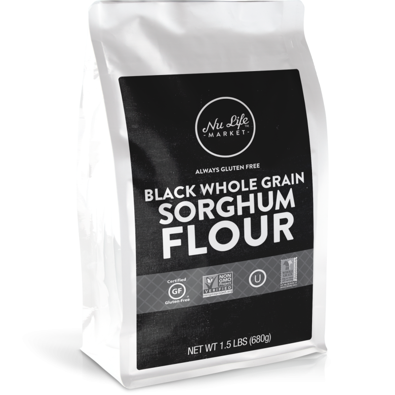 Gluten Free Black Whole Grain Sorghum Flour