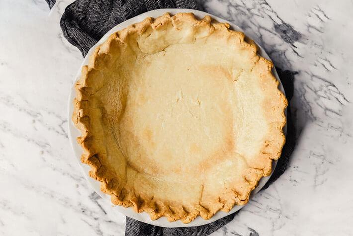 Gluten Free Quiche Crust on Marble Counter